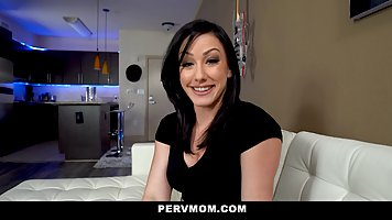 Brunette mommy succumbed to the entreaties of the son, and starred in porn in th...