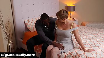Mature mom with big milkings was invited to a Horny black man