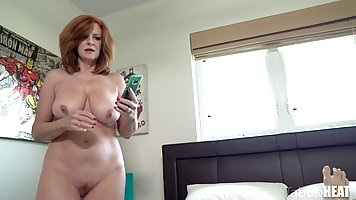 Redhead Mature Mature after sucking down on vagina shaved cock plumbing