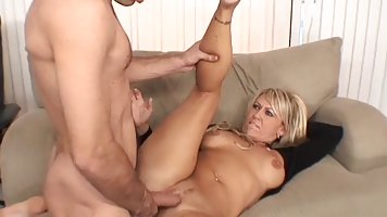 Blonde in age showed a guy milking large and spread her ass for anal
