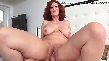 Mature woman after a Blowjob cums while racing on a hard cock