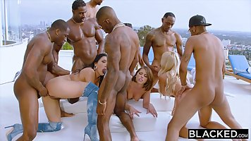 A crowd of Negroes on the street to have a group Orgy with faultless davalok