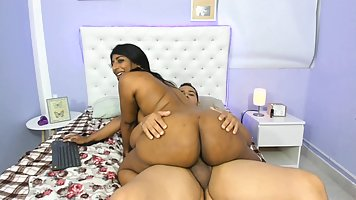 Indian big ass and her white lover filming homemade porn on webcam
