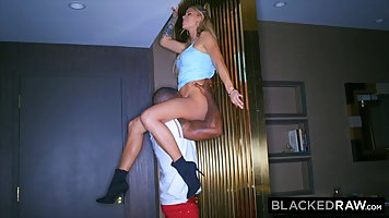The Negro brought home his busty wife after the party and made her Cooney, holdi...
