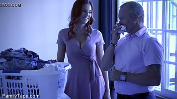 Two naughty brunettes stir up a passionate threesome with a handsome man and cat...