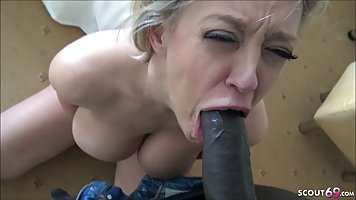 Blonde aged gets fucked in hotel with black lover